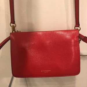 Givenchy  red cross body bag